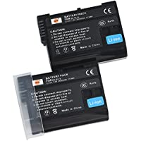 DSTE 2x EN-EL15 Replacement Li-ion Battery for Nikon 1 V1 D500 D600 D800 D850 D800E D810A D750 D7000 D7100 D610 D7200 Camera