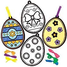 Baker Ross Adornos Huevo de Pascua Arte Borroso Set para niños (paquete de 12)