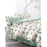 BENBU Modern bedding Yoga girls/boys bedding set for double bed covers 100% cotton comforter case sheet pillowcases 4pcs bed sets , queen-green , queen-green