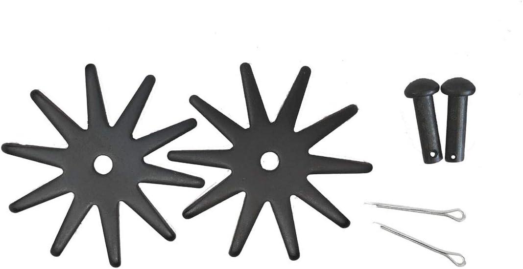 AJ Tack 卸売 スプール 交換用 ロウセット ピン コッターキー L 2.125インチ 10ポイント ブラック