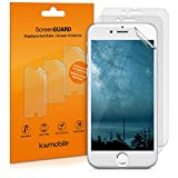 3x kwmobile screen protector MATT and ANTI-GLARE, resistant against finger prints for Apple iPhone 6 / 6S / 7 (smaller than the display, due to its curved edges)