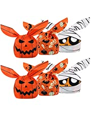 Jodsen 150 stuks Halloween Candy Bags, Halloween Pompoen Zombie Ghost Bat Snack Treat Favor Bags Cookie Sweets Biscuit Gift Bag voor Halloween Party Supplies, 3 stijlen