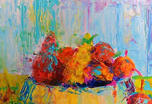 Kitchen Paintings Kitchen wall art decor decal Impasto painting Palette knife Still life Fruits food for wall