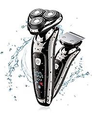 Hatteker Mens Electric Shaver Razor Beard Trimmer Rotary...