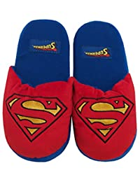 DC Comics Superman Logo 3D Plush Slippers | M