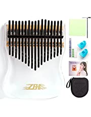 $23 » Kalimba 17 Keys Thumb Piano, Portable Transparent Acrylic Mbira Wood Finger Piano, Musical Instrument Gifts for Kids Adult Beginners with Tuning Hammer and Study Instruction