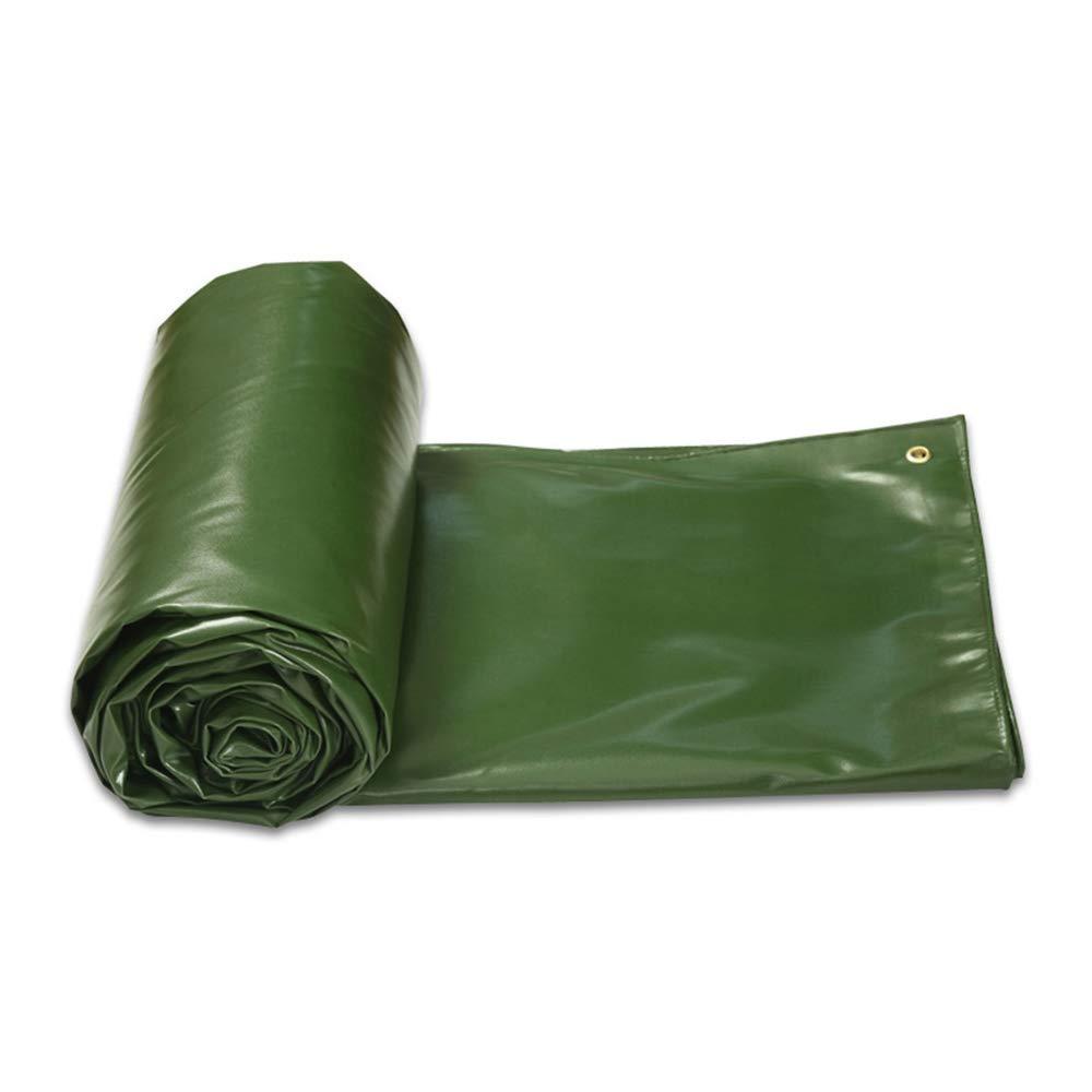 Zhihui Zeltplanen ZZHF pengbu Tarps, verschlüsselte Dicke Plane doppelseitig wasserdicht 5m x 8m, Sonnenschirm, ideal für Outdoor-Fahrräder und Wohnwagen, 600 g   m2 (Farbe   Grün, größe   3m4m)