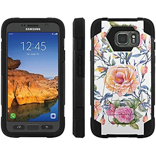 AT&T [Galaxy S7 Active] ShockProof Case [ArmorXtreme] [Black/Black] Hybrid Defender [Kickstand] - [Garden of Rose] for Samsung Galaxy [S7 Active] Sales