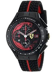 Ferrari Mens 0830077 Race Day Chronograph Black Rubber Strap Watch