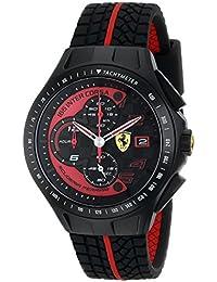 Men's 0830077 Race Day Chronograph Black Rubber Strap Watch