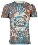Affliction Mens T-Shirt Cloverfield American