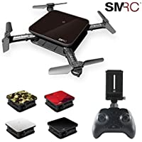 Rucan 7CM Mini Drone 0.3MP Wifi Aititude Hold RC Toy Helicopter Foldable Selfie Drone (A)