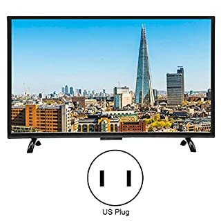 wosume HD TV Large Curved Screen 4K HDR Big Screen 55inch Resolution 1920x1200(US Plug)