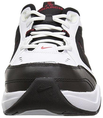 Nike Men's Air Monarch IV Cross Trainer, White/Black, 6.5 Regular US