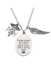 Ensianth Personalized Nurse Necklace,RN Necklace,Nurse Jewelry,Gift for Nurse,Custom Nurse Gift,Graduation Gift