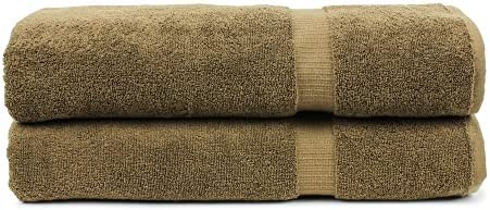 Chakir Turkish Linens Turkish Cotton Luxury Hotel & Spa Bath Towel, Bath Sheet - Set of 2, Cocoa