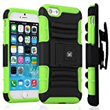 iPhone 6S Plus Case / iPhone 6 Plus Case - KAYSCASE ArmorHolster 3 Piece Heavy Duty Kickstand Case with Holster for Apple iPhone 6S 5.5 inch 2015 Version / iPhone 6 5.5inch 2014 Version (Green)