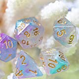 UDIXI DND Dice Sets Swirls Iridecent Dice for