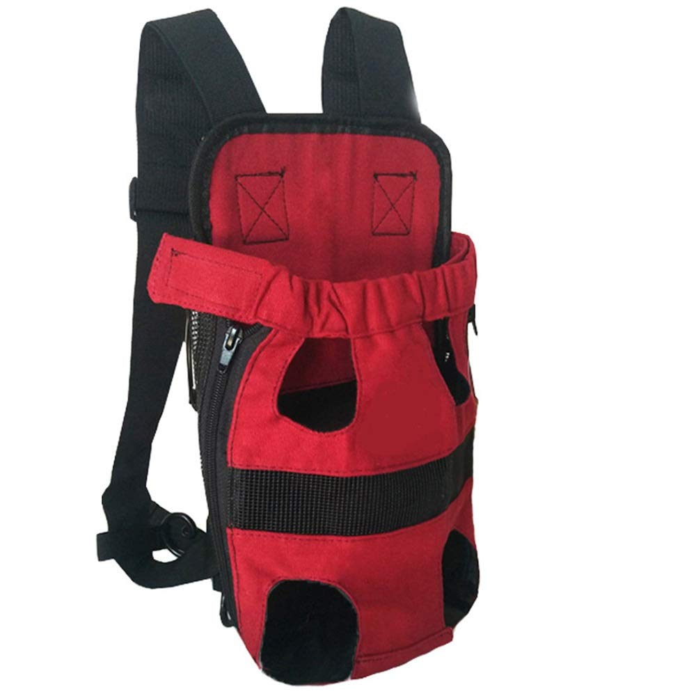 Red LargeNecoco Dog Bag Outdoor Pet Chest Bag Out Portable Pet Backpack (color   Red, Size   L)