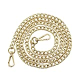 "Gnognauq 47"" Purse Chain Strap 8mm Width Flat Chain Strap Handbag Chains with Metal Buckles for Clutch Wallet Satchel Tote Bags Shoulder Bag Chain Replacement Strap"