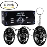 Personal Alarm Keychain,120 dB Emergency Anti Wolf Alarms,Safety Self Defense for Elderly Kids Women Adventurer Night Workers,6 Pack