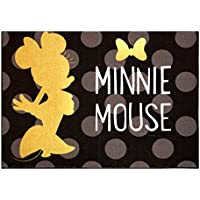 Gertmenian Disney Minnie Mouse Rug 2017 HD Edition Invisible solid Gold Minnie Polka Dot Girls Room Décor Wall Decals Bedding Area Throw Rugs 40x54, Black