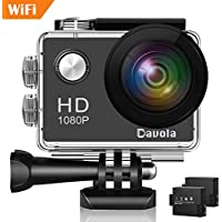 Action Camera 1080P 12MP WiFi Sport Camera 98ft Unerwater...