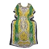 Women's Caftan Dresses Green Kaftan Cover up Dashiki Cruise Dress xxxl