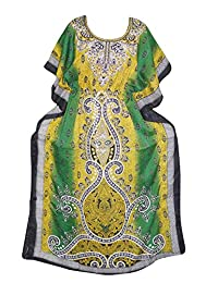 Women's Caftan Dresses Green Kaftan Cover up Dashiki Cruise Dress xxxl