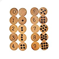 Wood Number Matching Educational Game 0-9 - Learning Materials - Montessori Reggio Homeschool Preschool Kindergarten Grade 1 - Tree Fort Toys
