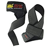 Best Heavy Duty Lifting Straps Neoprene Padded (1 Pair) | Wrist Wraps & Rubbery Grip Support Straps with Cotton Coated Rubber on One Side | Alternative to Power Lifting Hooks Weightlifting Grip Pad | Weight Lifting No-Slip Padded Straps For Bodybuilding 1 Year Replacement Warranty!