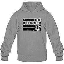 XIULUAN Men's The Dillinger Escape Plan Band Logo Mathcore Hoodies