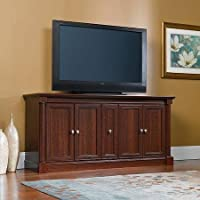 Sauder Palladia TV Stand for TVs up to 70, Cherry Finish Traditional Style