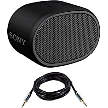 Sony XB01 Bluetooth Compact Portable Speaker Black (SRSXB01/B) with 6ft 3.5mm cable (Renewed)