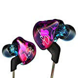 KZ In-Ear Earbud Headphones , ZST Colour Balanced Armature+Dynamic Hybrid Dual Driver Earphones HIFI Earbuds Bass Headset In-ear Earphones for Cellphones (without MIC)
