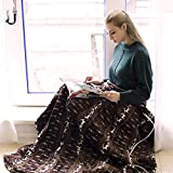 """Electric Snuggle Heated Throw Blanket with 3 Temperature Settings,Fast Heating Tech and Auto Shut Off,Ultra Soft Flannel,Moose Pattern, 50""""x 60''"""