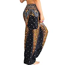 Women Seaside Relaxed Belly Dance National Wind Wide Leg Pants Female Yoga Bloomers