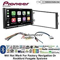 Volunteer Audio Pioneer AVH-W4400NEX Double Din Radio Install Kit with Wireless Apple CarPlay, Android Auto, Bluetooth Fits 2013 Nissan Frontier, Titan