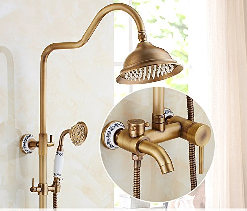 K GFEI Antique shower set, all copper bathroom, shower shower, shower head, shower faucet,H