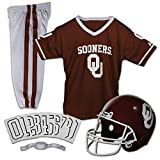 Franklin Sports NCAA Oklahoma Sooners Kids College Football Uniform Set - Youth Uniform Set - Includes Jersey, Helmet, Pants - Youth Medium