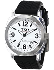 TKO ORLOGI Womens TK558-WB Milano Junior Acrylic Case White Dial Watch
