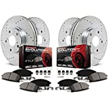 Power Stop K2798 Front & Rear Brake Kit with Drilled/Slotted Brake Rotors and Z23 Evolution Ceramic Brake Pads