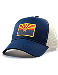 Men's Arizona Flag Patch Trucker Hat
