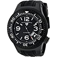 Swiss Legend Men's 11819A-BB-01 Neptune Automatic Black Dial Silicone Strap Watch