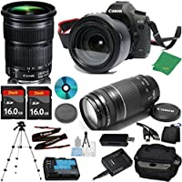 Canon EOS 5D Mark III Camera with 24-105mm IS STM Lens + 75-300mm III Zoom + 2pcs 16GB Memory + Camera Case + Card Reader + Professional Tripod + 6pc Starter Set - International Version