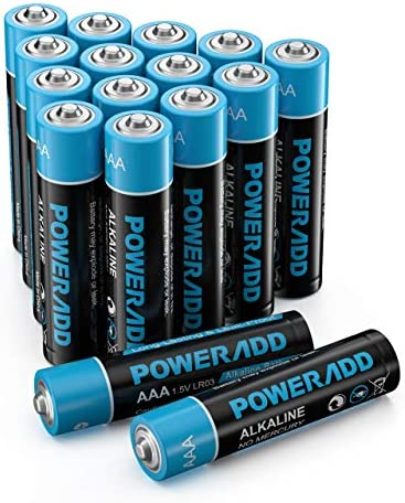 POWERADD AAA Alkaline Batteries Long Lasting, All-Purpose Battery for Household and Business - 16 Count