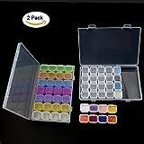 AComon 2 Pack 28 Grids Embroidery Storage Diamond Box Painting Rhinestone Accessories Diamond Stones DIY Craft