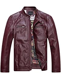 Amazon Com Reds Men S Leather Faux Leather Jackets