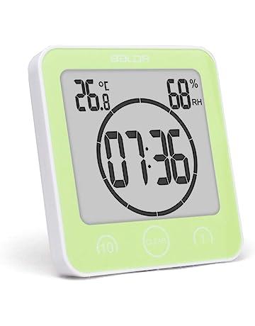 Merveilleux Mallalah Horloge De Salle De Bain Minuteries étanche Douche Grand Écran LCD  Numérique Thermomètre Hygromètre Température