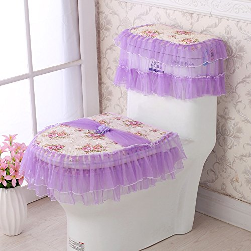 U GH-Winter warm flannel toilet seat cushion thickening toilet bowl three sets of waterproof toilet,CT